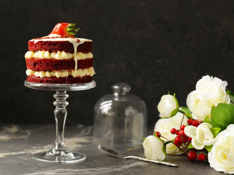 Tort red velvet / Tort catifea roșie